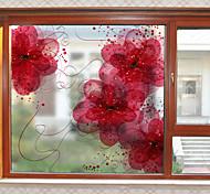 abordables -givré intimité rêve carthame motif fenêtre film maison chambre salle de bain verre fenêtre film autocollants auto-adhésif autocollant 58 x 60 cm