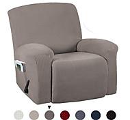 abordables -Housse de chaise Couleur Pleine Velventine Polyester / Coton Literie