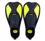 economico -Pinne per immersione A lama lunga Cinghia regolabile Immersioni Snorkeling Sub Silicone neoprene - per Bambino Giallo Blu