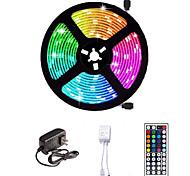 abordables -LED bande lumineuse 16.4ft 5m smd 5050 rgb 300leds 10mm bandes d'éclairage flexible changement de couleur avec 44 touches ir à distance idéal pour la cuisine de maison noël tv rétro-éclairage dc 12v