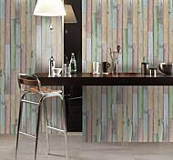 economico -1 pz simulazione abete modello pavimento carta da parati adesivo da parete adesivi in pvc impermeabili resistenti all'usura ispessimento colore arcobaleno venatura del legno 30 * 300 cm