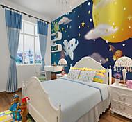 abordables -Personnalisé auto-adhésif 3d papier peint mural avion enfants style de bande dessinée adapté à la chambre d'enfant paysage décoration de la maison matériel adhésif requis