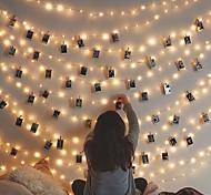 economico -3 m 20 led foto clip luci a stringa led luci fata alimentate usb ghirlanda natale festa di compleanno festa di nozze decorazione di san valentino