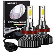 abordables -Infitary 2pcs h11 ampoules de voiture de moto led feux de brouillard 72w 8000lm 6500k pour voiture universelle