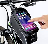 economico -Ruota su Borsa per cellulare Marsupio triangolare da telaio bici 6 pollice Ciclismo per Tutti Cellulare iPhone X iPhone XR Nero Bici da strada Mountain bike / iPhone XS / iPhone XS Max