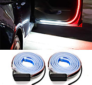 abordables -2 pcs porte de voiture lampe d'avertissement porte automatique led bande lumière porte universelle lumières ouvertes stroboscopique sécurité lampes ambiantes 120 cm bandes flexibles 12 v