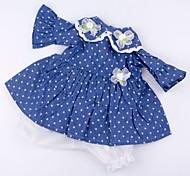 abordables -Vêtements de poupées Reborn Baby Accessoires de poupée Reborn Tissu en Coton pour poupée Reborn 17-18 pouces Poupée Reborn Non Incluse Fleur Doux Pur fait main Fille 2 pcs
