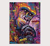 economico -Hang-Dipinto ad olio Dipinta a mano Verticale Astratto Animali Moderno Senza telaio interno  (senza cornice)