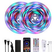 abordables -Mashang lumineux 10 m rgbw led bandes lumineuses étanche musique sync smart led tiktok lumières 2340leds 2835 changement de couleur avec 40 touches à distance contrôleur bluetooth pour la maison