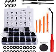 economico -415pz clip di fermo paraurti rivetti in plastica per auto rivetti kit di ritenzione push i più popolari formati set di rivetti per auto push pin rivetti per parafango per gm ford toyota honda chrysle