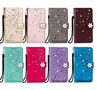 economico -telefono Custodia Per LG Integrale Custodia in pelle Custodia flip LG V30 LG Stylo 4 LG Stylo 5 LG K10 2018 LG G7 LG G6 LG Q60 LG K50 K8 2018 / K9 Porta-carte di credito Con chiusura magnetica