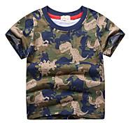 economico -Bambino Da ragazzo T-shirt Manica corta Animali Verde militare Cotone Bambini Top Estate Moda città