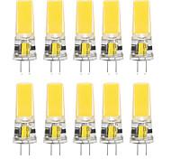 abordables -10 pcs 10 W LED Gel De Silice Maïs Lumières LED Bi-Pin Lumières G4 2508Cob Haute Puissance LED Parti Créatif Décoratif Lustre En Cristal Source de Lumière Ampoules À Économie D'énergie Blanc Chaud