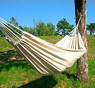abordables -Hamac de Camping Extérieur Respirabilité Vestimentaire Réutilisable réglable flexible Pliage Nylon PVA pour 2 personne Chasse Randonnée Plage Blanche 200*150 cm Conception pop-up