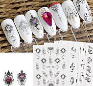 abordables -24 feuilles autocollants à ongles série Dreamcatcher ensemble protection de l'environnement filigrane décoration de haute qualité pour les décorations d'art d'ongle de bricolage