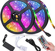 abordables -Kit de bande de lumière LED RVB 10m 600 smd 5050 leds avec ruban led dimmable à distance 44 touches pour l'éclairage domestique barre de cuisine alimentation 12v 6a