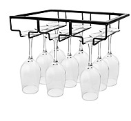 abordables -support de verre à vin sous armoire porte-verres en métal organisateur de verre à vin verres cintre de rangement pour bar cuisine maison noir or blanc