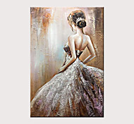 economico -Hang-Dipinto ad olio Dipinta a mano Verticale Astratto Ritratti Moderno Senza telaio interno  (senza cornice)