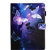 abordables -téléphone Coque Pour Apple Coque Intégrale iPad Mini 3/2/1 iPad Mini 4 iPad Mini 5 Rotation à 360 ° Antichoc Magnétique Mot / Phrase Papillon Panda faux cuir TPU