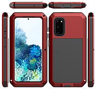economico -telefono Custodia Per Samsung Galaxy Integrale Silicone Custodia in silicone S20 Plus S20 Ultra S20 Resistente agli urti A prova di sporco Tinta unica Silicone Gel di silice Metallo