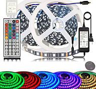 abordables -zdm pcb noir de haute qualité 10m (2 * 5m) couleur changeante 5050 éclairage de corde à LED flexible kit de bandes LED avec 44 touches télécommande ir et alimentation pour cuisine à la maison