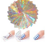 economico -24 pcs Adesivo stagnola Creativo manicure Manicure pedicure Multifunzione / Colori sfumati Di moda / Di tendenza Party / serata / Quotidiano