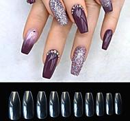 abordables -ongles de cercueil longs faux ongles - ongles en acrylique clairs ongles de ballerine en forme de cercueil conseils 500pcs couverture complète faux ongles ongles artificiels 10 tailles