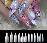 abordables -500 pcs / sac ongles salon stiletto long faux faux ongles conseils manucure artificiel blanc / clair / naturel conseils de couverture complète 12 taille