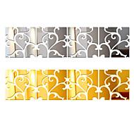 abordables -ensemble de 4 pièces grands stickers muraux décoratifs 3d pour la maison, grand miroir acrylique moderne, surface de vie fixe, autocollant mural bricolage à la mode