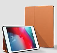 abordables -téléphone Coque Pour Apple Coque Intégrale iPad Mini 4 iPad Mini 5 Rotation à 360 ° Antichoc Magnétique Couleur Pleine faux cuir TPU
