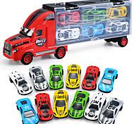 abordables -Playsets de véhicules Jouets de camion de construction Jouet de voiture de transport Simulation Plastique Alliage Mini véhicules de voiture jouets pour cadeau d'anniversaire ou cadeau d'anniversaire