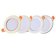 abordables -6 pcs 4 pcs led downlight 3 w ronde encastré lampe 220 v 110 v led ampoule chambre cuisine intérieure led spot éclairage