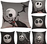 abordables -fête d'halloween décor d'halloween fantôme d'horreur1 lot de 6 pièces série d'halloween housse de coussin décoratif en lin 18 x 18 pouces 45 x 45 cm