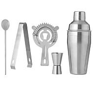 economico -Set da 5 miscelatori da 550 ml di shaker da cocktail con pinza per bar e filtro per ghiaccio
