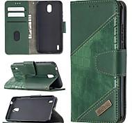 economico -telefono Custodia Per Nokia Integrale Custodia in pelle Porta carte di credito Nokia 1.3 Nokia 5.3 A portafoglio Porta-carte di credito Con supporto Tinta unica pelle sintetica