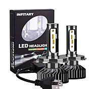 abordables -2pcs ingitary canbus LED ampoules de phare de voiture 16000lm puces zes 6500k 4500k 3000k h1 h3 h7 h11 9005 9006 antibrouillard automatique