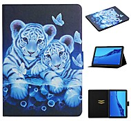 economico -telefono Custodia Per Huawei Integrale Huawei Mediapad T5 10 Huawei Mediapad M5 Lite 10 Porta-carte di credito Con supporto Fantasia / disegno Animali pelle sintetica