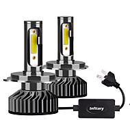 abordables -2 pcs Infitary Mini H4 H7 LED Ampoule De Phare De Voiture 12000lm 6500 K H1 H3 H7 H11 9005 9006 En Cours D'exécution Auto Lampe De Tête De Brouillard