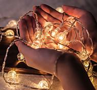 abordables -50 boules de cristal led guirlandes lumineuses 5m guirlandes led guirlandes extérieures guirlande lumineuse alimentée par batterie guirlande lumineuse étanche jardin extérieur noël fête de mariage cou