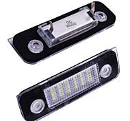 abordables -2 pcs voiture licence plaque d'immatriculation lumière led lumière pour ford mondeo mk2 fiesta fusion voiture 5 w 18 led blanc lumière signal lampe 12 v