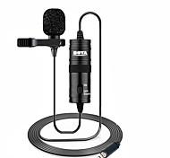 economico -by-m1 microfono boya 6m clip lavaler mini audio da 3,5 mm collare condensatore risvolto microfono per la registrazione canon fotocamere dslr iphone