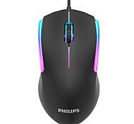 abordables -philips g314 filaire usb laser gaming mouse led respiration lumière pour pc portable