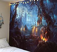 abordables -tapisserie murale citrouille chauve-souris impression halloween tapis décor à la maison nuit lune hippie tapisserie tenture murale tapisserie décor