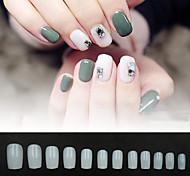 abordables -faux ongles ongles ovales faux ongles ronds couverture complète presse artificielle sur les ongles naturel 600pcs 12 tailles