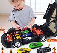 abordables -Petites Voiture Jouets électriques Jouets de camion de construction Voiture de Police Voiture de sport Musique et Lumière Alliage Mini véhicules de voiture jouets pour cadeau d'anniversaire ou cadeau