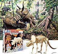 abordables -Jouet modèle fossile de dinosaure Kit de fouille de fossiles de dinosaures Dinosaure A Faire Soi-Même Simulation Assemblée Gypse ABS 1+10 pcs Enfant Adolescent Tricératops Tyrannosaure Rex Faveurs de