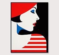 economico -Stampa artistica con cornice tela wall art pop personaggi dei cartoni animati di moda stampa decorazione murale astratta portico corridoio cornice nera pronta da appendere