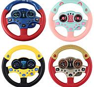 economico -Controller di guida simulato Giocattolo del copilota del volante di guida simulato Cartone animato Musica e luce Plastica Mini veicoli per auto Giocattoli per bomboniere o regali di compleanno per