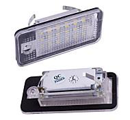 abordables -2 pcs 12 v plaque d'immatriculation lumière pour audi a3 s3 a4 s4 b6 b7 a6 c6 s6 a8 s8 rs4 rs6 q7 canbus beetle xénon led numéro lumière de licence