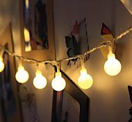 abordables -3m 20led petite boule ronde guirlande lumineuse guirlande clignotante alimenté par batterie LED guirlande lumineuse pour noël mariage fête de vacances en plein air décoration de jardin lampe sans batt